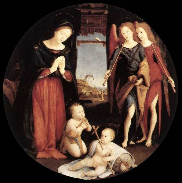 Piero di Cosimo The Adoration of the Christ Child 1505